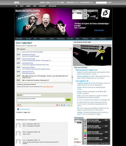 NRK P3 - Radioresepsjonens valgvake