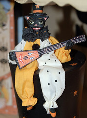 Hep Cat (contrarymary) Tags: halloween cat guitar pleasanton vintagetreasures americanharvest