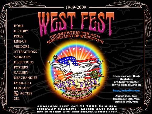 Pedal Powered Stage at Woodstock West, Oct. 25th, Golden Gate Park. Be There! by you.