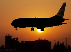 Plane silhouette Ringway (PeterChad) Tags: uk sunset england art plane canon photography airport europe photos terminal landing ringway sillhoette thechallengefactory fotocompetition fotocompetitionbronze fotocompetitionsilver fotocompetitiongold welcomeuk
