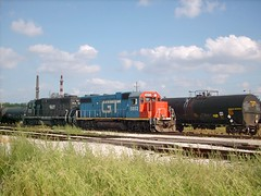 Switching activity at the former Illinois Central RR Crawford Yard. Chicago Illinois. june 2007.