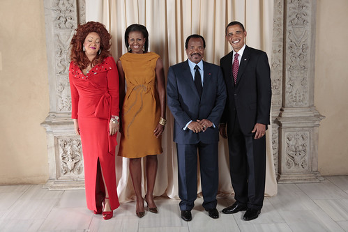 President and First Lady of Cameroon with the Obamas
