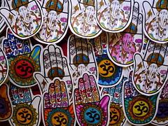 Ganesh Chaturthi #1 (Gabri Le Cabri) Tags: pink blue red orange elephant paris green home yellow gold rainbow sticker hand purple stock ganesh shiva 75018 aum ninahagen cosma ganeshchaturthi khamsa paris18 galaxina