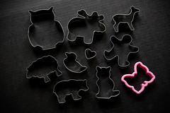 cookie farm (ion-bogdan dumitrescu) Tags: bear pink man black bird animal metal cat butterfly dark duck cookie sheep heart background shapes moose deer plastic biscuit human owl shape cutter cutters bitzi ibdp mg0197 findgetty ibdpro wwwibdpro ionbogdandumitrescuphotography