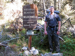 Eric at the trailhead (Lazy Day (historical), Montana, United States) Photo