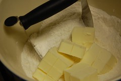 butter before being cut in