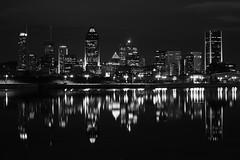 Cityscape By Night #2 (Bullet76) Tags: reflection night 50mm montral minolta montreal sony nuit nocturne manfrotto a900 blackwhitephotos dslra900