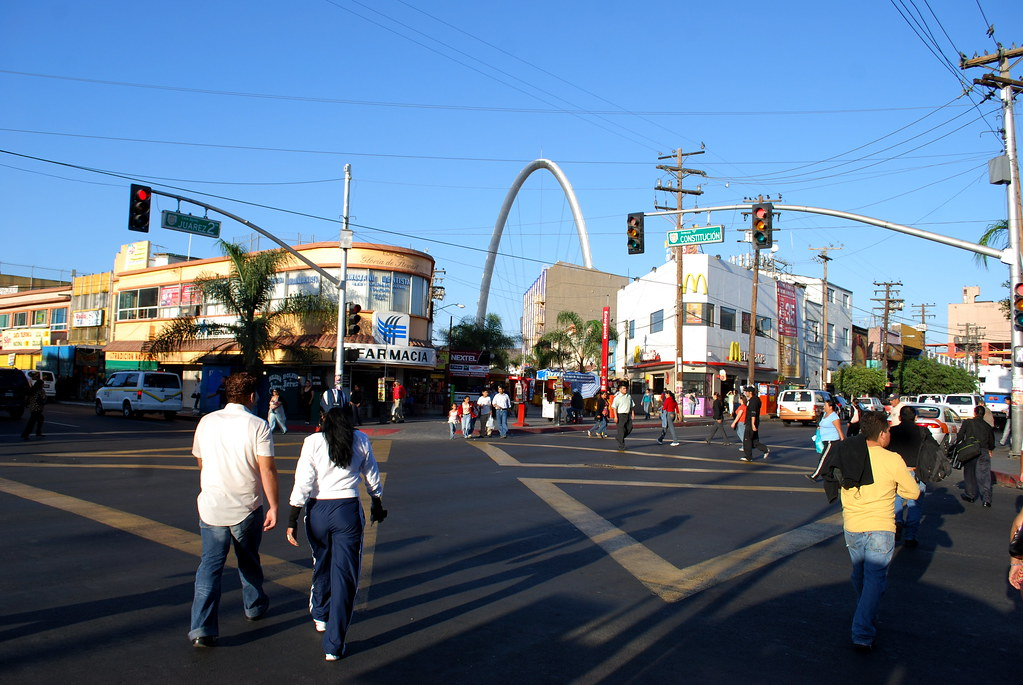 Downtown, at Avenida Constitucion and Second Street