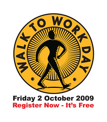 today is Walk to Work Day in Australia (by: The Pedestrian Council)