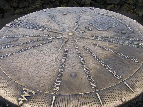 Cool dial depicting the mountains around the observatory