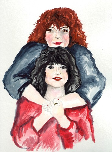 A painting of the queen and her loyal countess