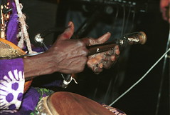 Imbile from Nigeria at the Africa Centre London Sept 2001 009 Baba Adesose Wallace hands (photographer695) Tags: imbile africacentre world african music baba adesose wallace nigeria africa centre london sept 2001