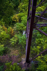 Fall Is Apon Us (aplseed photography) Tags: railroad bridge autumn color fall support rust iron iowa beams boonescenicrailroad trynottofalloffthetrainlol leaningoverthesideoftherailing
