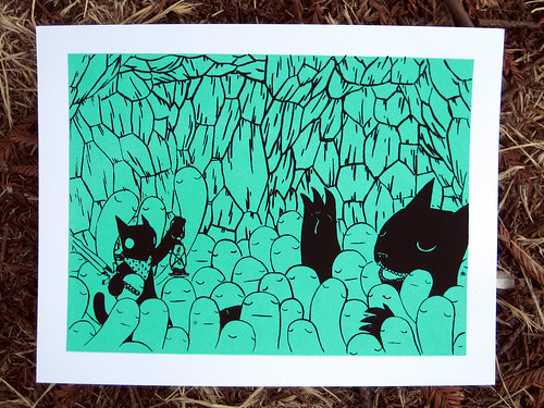 Into the Cave Silkscreen Print