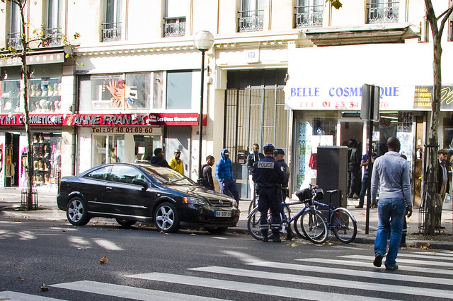 Paris Bike Cops Give Car Ticket