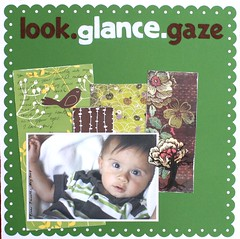 look.glance.gaze (Lintsi1978) Tags: green look scrapbooking gaze gance patternedpaper