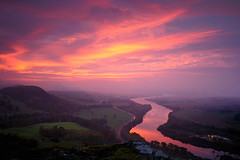Kinnoull Dawn. (stonefaction) Tags: autumn fall colors sunrise landscape dawn scotland twilight scenery gallery colours hill perthshire perth flickrmeet gloaming faved kinnoull decs241009