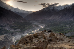 Shangri-La (jonmartin ()) Tags: pakistan mountains river landscape outdoors tripod valley hunza northernareas karimabad hdr baltit gilgitbaltistan