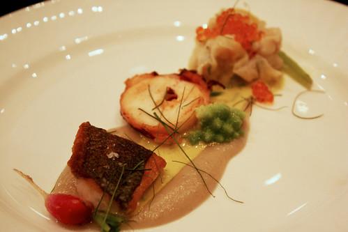 Sea Bass, Octopus, and Shrimp Sui Mai
