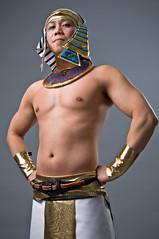 Giai (petetaylor) Tags: male halloween asian nikon chest skirt egyptian topless 1755 d300 giai petertaylorphotocom