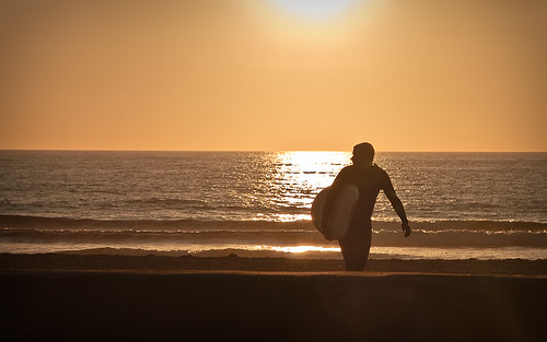 End of a surfing day
