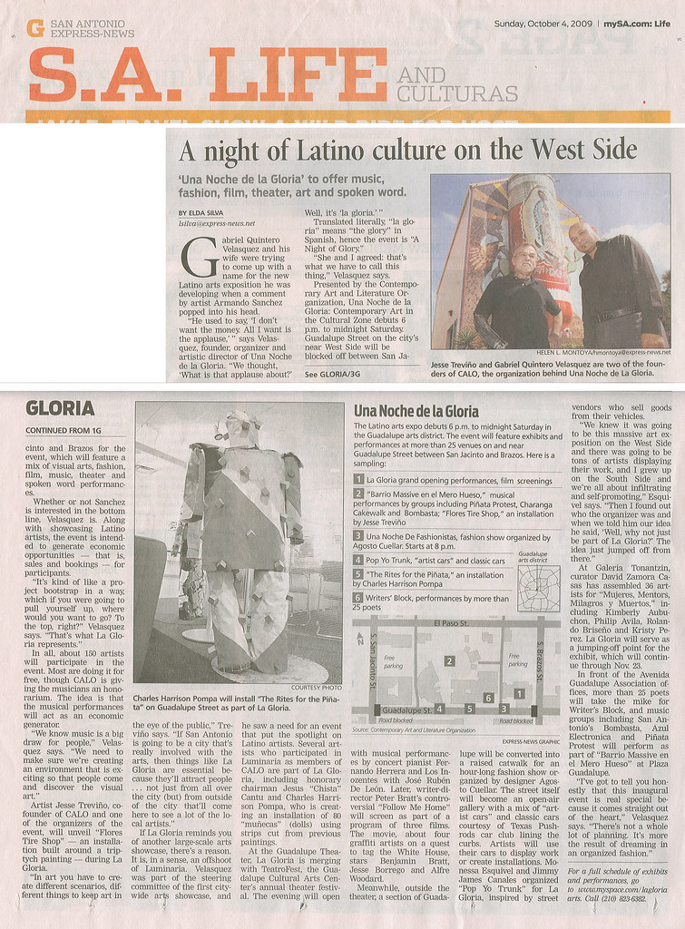 San Antonio Express-News Article: Una Noche de La Gloria