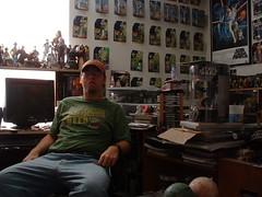 Ruler over his geek kingdom (riffsyphon1024) Tags: selfportrait nerd me self star starwars geek tripod kingdom headquarters lord collection wars domain theroom wookieepedia wookiepedia