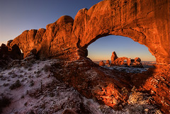 Window Sunrise (Bill Ratcliffe) Tags: sunrise utah arch arches sunrises southernutah redrock archesnationalpark nationalparks turretarch naturalarches turretarchsunrise nationalparkphotography archessunrise