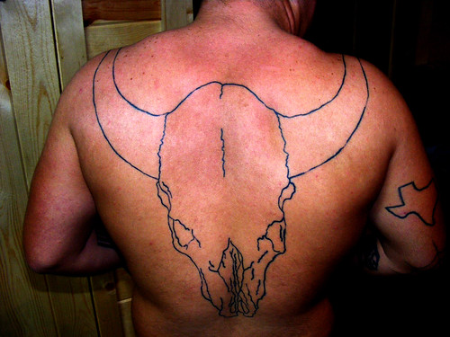 Cow Skull 1 Great Back tattoo