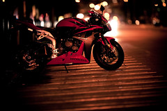CBR600RR Boked (. : Jonathan Fiamor : .) Tags: california street wedding portrait night canon honda japanese lights san francisco downtown photographer shot bokeh jonathan mark ii embarcadero motorcycle 5d else everything cbr600rr strobist fiamor wwwfiamorcom