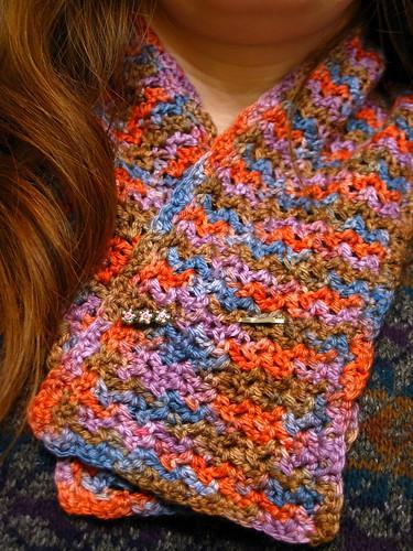 Wattle stitch neckwarmer