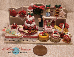 Merry Christmas (Cherie Fleuge) Tags: santa christmas red food white tower cake miniature cookie tea sweets macaron