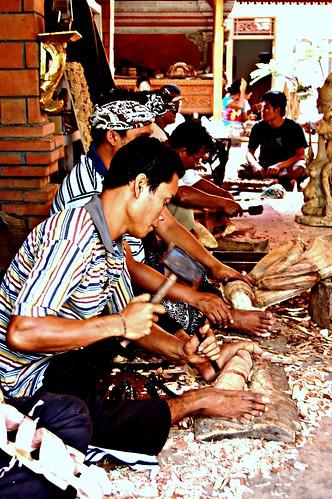 Bali - wood carvers