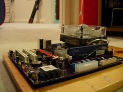 Cheap (JonJCP) Tags: computer crap motherboard build ram cheap celeron