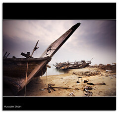 Use To Be (Hussain Shah.) Tags: sky d50 boats boat nikon cloudy sigma use be kuwait 1020mm wrecks doha shah hussain   nd8