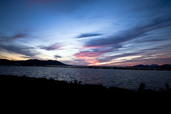 Ocaso en los estanques salineros (ibzsierra) Tags: sunset sea mer canon atardecer mar mare salinas ibiza eivissa ocaso baleares digitalcameraclub 400d travelsofhomerodyssey