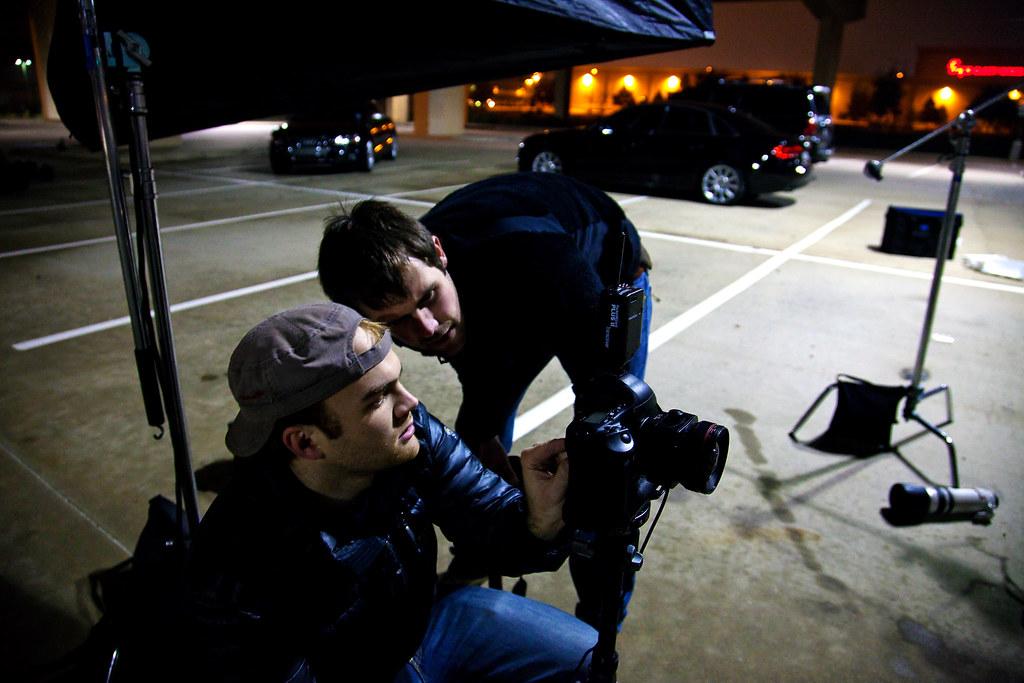 Austin checking his shot