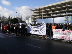 Manifestación en la T2