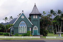 Wai`oli Hui`ia Church (John Petrick) Tags: hawaii kauai hanalei d90 hawaiivacation kauaihawaii waiolihuiiachurch kauaivacation hanaleikauai nikon2470mm hanaleichurch waiolimission greenchurchinhanalei