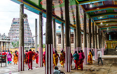 Vertical splits | Thillai Nataraja Temple, Chidambaram. (vjisin) Tags: architecture india asia tamilnadu culture incredibleindia tamil civilisation outdoor people streetphotography indianstreetphotography devotees pillars columns mirage paintings colours thillai lordnataraja nataraja chidambaram town