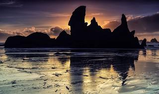 Bandon Beach Silhouettes