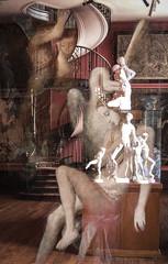 El Estudio (seguicollar) Tags: imagencreativa photomanipulación art arte artecreativo artedigital virginiaseguí estudio gustavemoreau parís escalera leda pintura estudiopintor cisne zeus