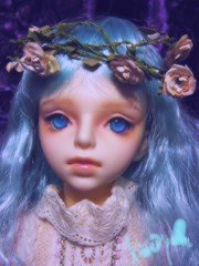 Senri=wearing flower crown (borometz) Tags: color art doll vampire gothic lavender fantasy bjd   custom volks 13 balljointdoll  senri  sd13  60cm kyotenshi yuugiri