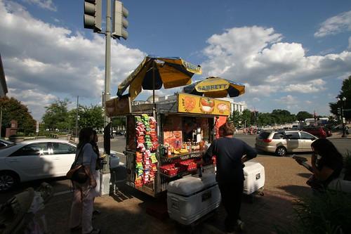 Hotdog street food.