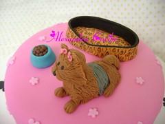 Bolo York Shire (detalhes da pelagem e cama de oncinha) - Details YorkShire Cake (Alexandra Bolos Artsticos) Tags: minibolos