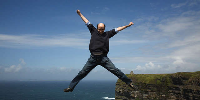 Jump at Cliffs of Moher