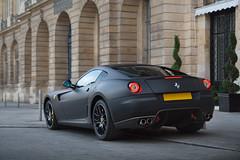 Matte Black 599 GTB (UK) ([ JR ]) Tags: black paris car canon 350d noir ferrari mat exotic supercar matte gtb vendome 599 fiorano carsighting fialeix