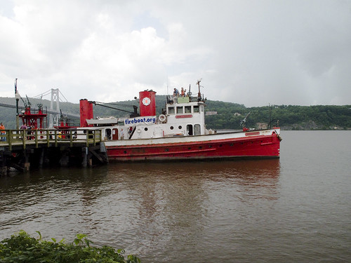 Fireboat John J. Harvey at dock in Poughkeepsie by you.