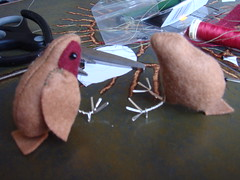 One finished, one robin nearly finished