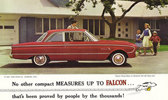 1961 Ford Falcon 2dr sedan (coconv) Tags: door old 2 two food classic cars ford hardtop car sedan vintage four photo automobile post deluxe postcard 4 ad picture automotive literature advertisement card postcards falcon cylinder collectible six brochure economy advertisment 1961 compact 61 144 todor automobilia fordor 2dr